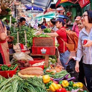 A conversation of Graham Street market in Hong Kong