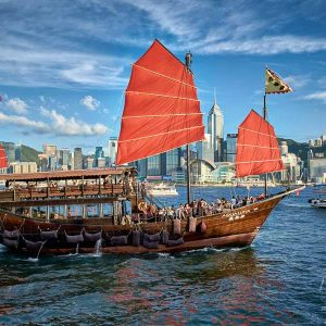 Tour cruise, Victoria Harbour, Hong Kong