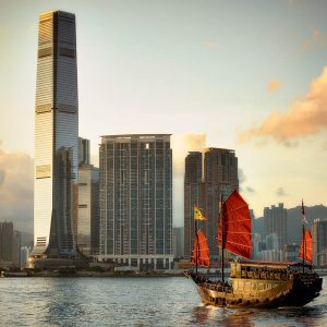 Sunset cruise, Victoria Harbour, Hong Kong