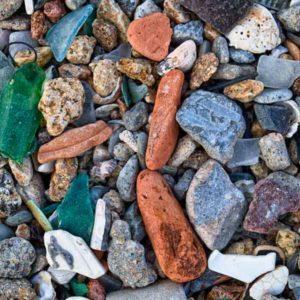Treasure Beach #1222 - beach rubble on a sea-shore in Hong Kong